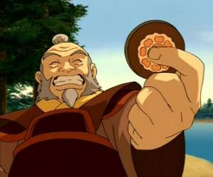 Puzzle de El retirado General Iroh conocido como el Dragón del Oeste es el tio y mentor de Zuko