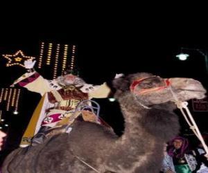 Puzzle de El Rey Melchor a lomos de su camello