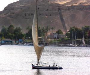 Puzzle de El rió Nilo es el mayor río de África,a su paso por Egipto