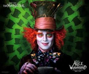 Puzzle de El Sombrerero Loco (Johnny Depp), personaje que ayuda a Alicia