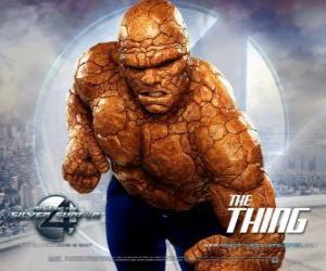 Puzzle de El superhéroe más fuerte de los Cuatro Fantásticos es La Cosa o La Mole