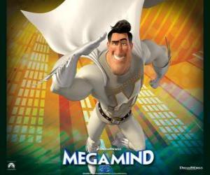Puzzle de El superhéroe Metro Man es el rival del supervillano Megamind o Megamente