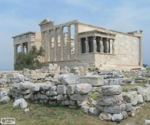 Puzzle de El templo de Erecteón, Atenas, Grecia