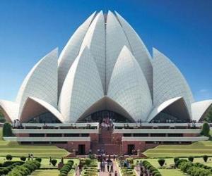 Puzzle de El Templo del Loto, Casa de Culto Bahá'i en la ciudad de Delhi, India