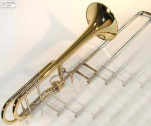 Puzzle de El trombón, instrumento musical de viento metálico