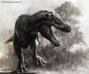 Puzzle de El Zhuchengtyrannus es uno de los dinosaurios carnívoros más grandes