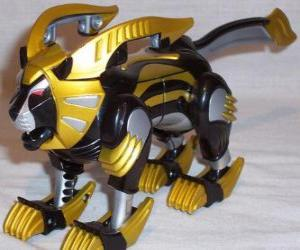 Puzzle de El Zord León. Power Ranger Amarillo. Ninja Power Rangers