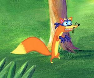 Puzzle de El zorro Swiper intenta siempre robarle algo a Dora