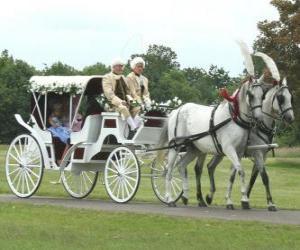 Puzzle de Elegante coche de caballos