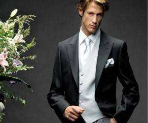 Puzzle de Elegante traje para caballero