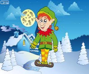 Puzzle de Elfo de Navidad