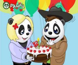 Puzzle de Ella le trae un pastel a Max para celebrar su aniversario