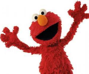Puzzle de Elmo sonriendo
