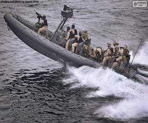 Puzzle de Embarcación neumática militar