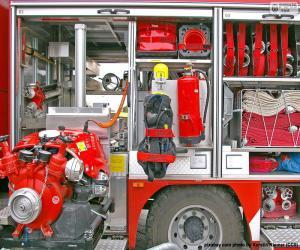 Puzzle de Equipo camión de bomberos