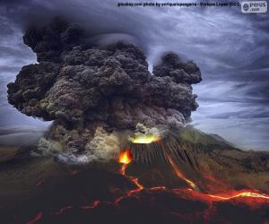 Puzzle de Erupción volcánica