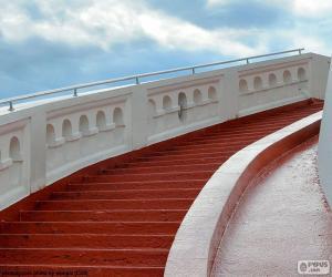 Puzzle de Escaleras rojas