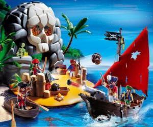 Puzzle de Escena de piratas de Playmobil