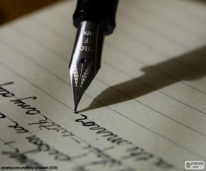 Puzzle de Escritura con pluma