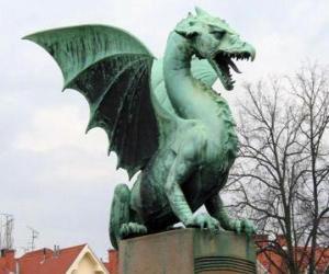 Puzzle de Escultura dragón alado