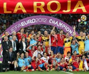 Puzzle de España, campeona Eurocopa UEFA 2012