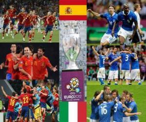 Puzzle de España vs Italia. Final Eurocopa 2012