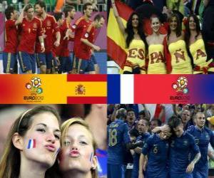 Puzzle de España - Francia, cuartos de final, Euro 2012