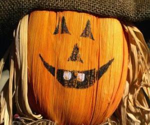 Puzzle de Espantapájaros de Halloween