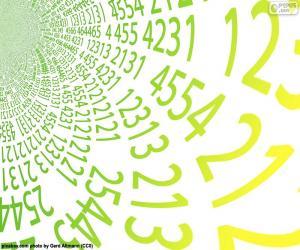 Puzzle de Espiral de números