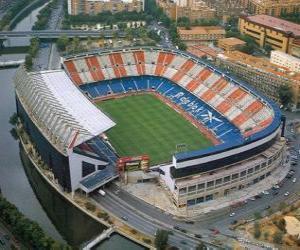 Puzzle de Estadio del Atlético de Madrid - Vicente Calderón -