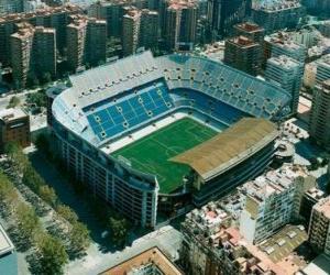 Puzzle de Estadio del Valencia C.F - Mestalla -