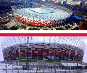Puzzle de Estadio Nacional de Polonia (58.145), Varsovia - Polonia