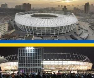 Puzzle de Estadio Olímpico de Kiev (69.055), Kiev - Ucrania