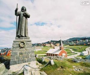 Puzzle de Estatua de Hans Egede, Nuuk, Groenlandia