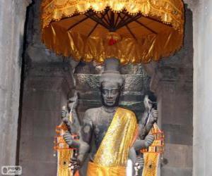 Puzzle de Estatua de Visnú, Angkor Wat, Camboya