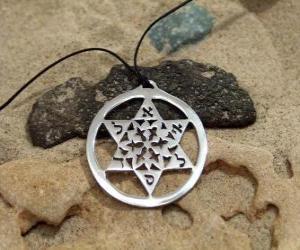 Puzzle de Estrella de David, también llamada Escudo de David o Sello de Salomón
