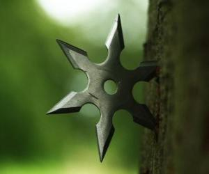 Puzzle de Estrella ninja - shuriken -