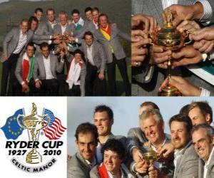 Puzzle de Europa gana la Ryder Cup 2010