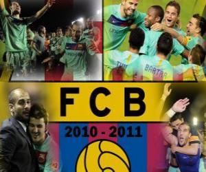 Puzzle de F.C Barcelona Campeón Liga BBVA 2010 - 2011