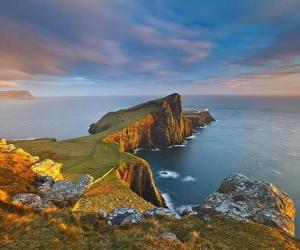Puzzle de Faro Neist Point, isla de Skye, Escocia