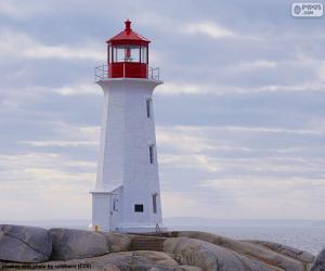 Puzzle de Faro Peggys Point, Canadá