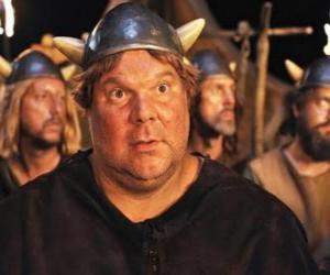 Puzzle de Faxe, el vikingo con mayor apetito, el más grande y más fuerte de los vikingos de Flake