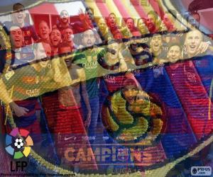 Puzzle de FC Barcelona, campeón 15-16