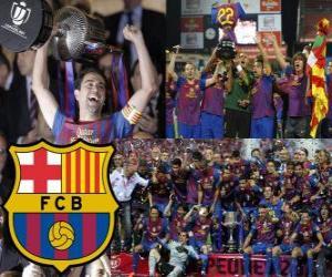 Puzzle de F.C Barcelona campeón Copa del Rey 2011-2012
