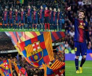 Puzzle de FC Barcelona, campeón 12-13