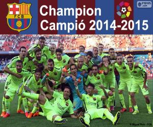 Puzzle de FC Barcelona, campeón 14-15