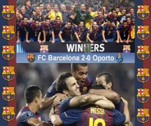 Puzzle de FC Barcelona Campeón Supercopa de la UEFA 2011