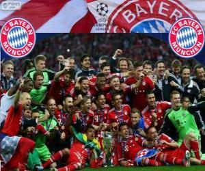 Puzzle de FC Bayern de Múnich, campeón de la Liga de Campeones de la UEFA 2012-2013