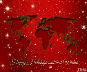 Puzzle de Felicitación Navidad, mapa