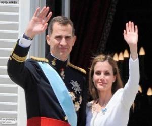 Puzzle de Felipe y Leticia nuevos reyes de España (2014)